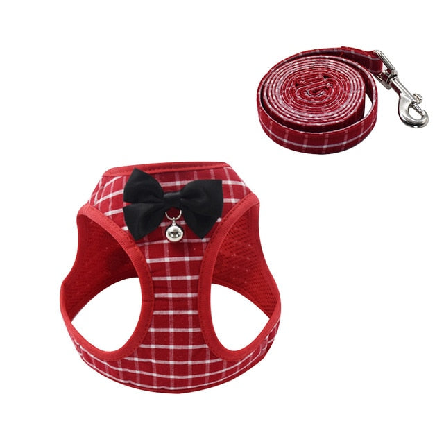 Cat Dog Harness Vest With Lead Leash-Cat collars-petsoftcare-Red-S-petsoftcare