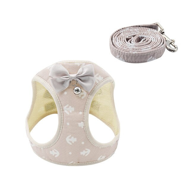 Cat Dog Harness Vest With Lead Leash-Cat collars-petsoftcare-Beige-L-petsoftcare