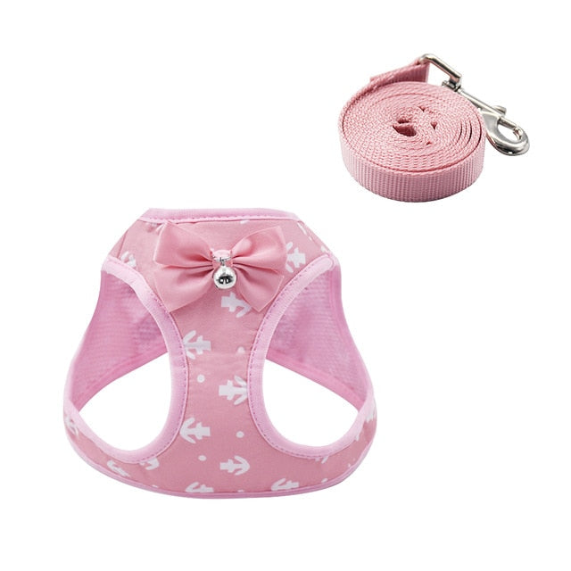 Cat Dog Harness Vest With Lead Leash-Cat collars-petsoftcare-Pink-L-petsoftcare