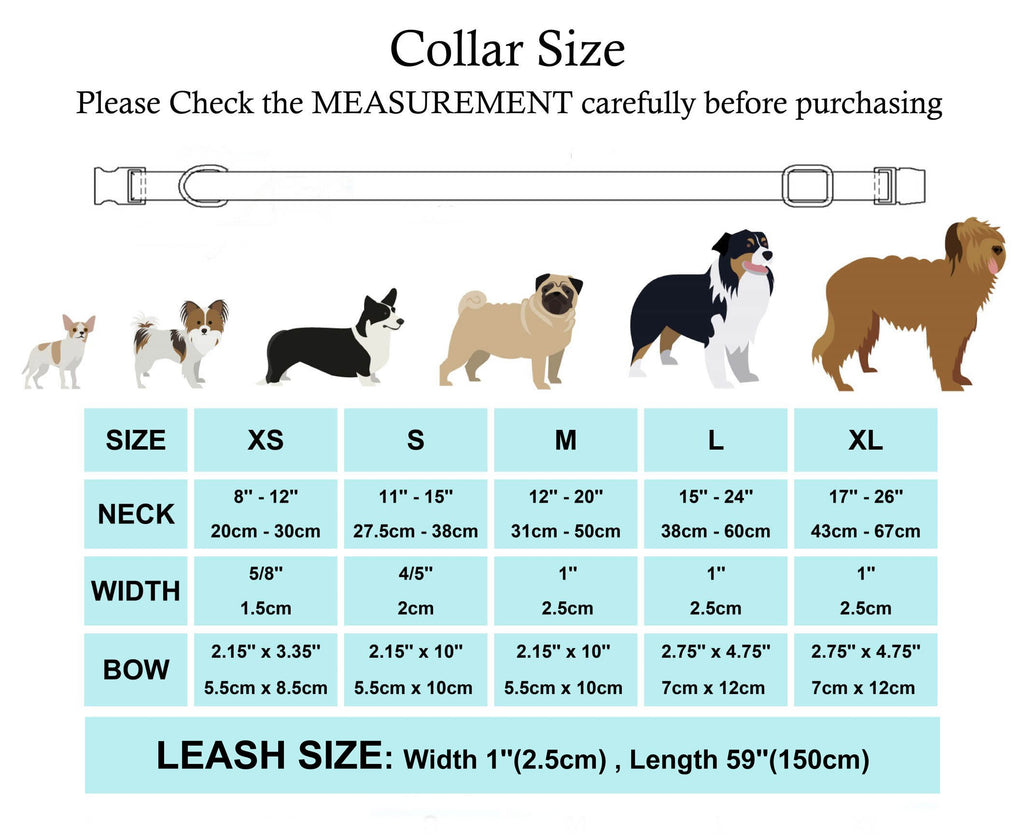 Girl Dog Collar Sprinkles Pattern Bow Collar-Collars, Harnesses & Leashes-petsoftcare-petsoftcare