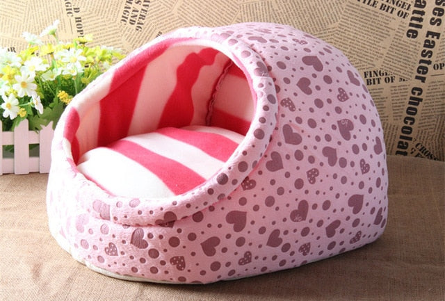 Hot Cute Cat Nest Dog House-Cat bed-petsoftcare-Pink-S-petsoftcare