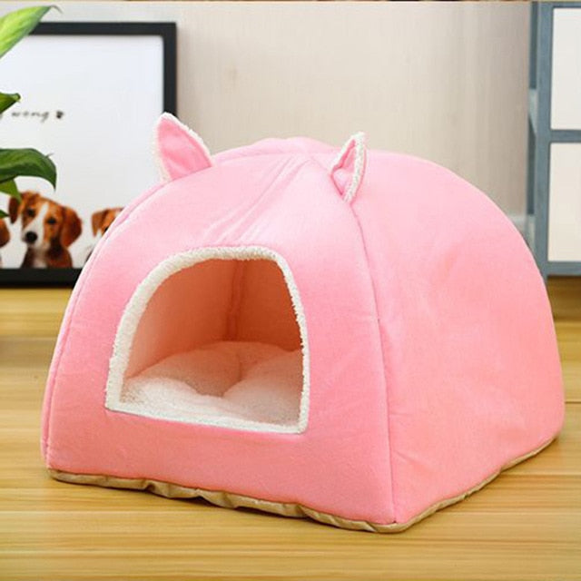 Self Warming Removable Cat Bed-Cat bed-petsoftcare-Pink-L40xW40xH41cm-petsoftcare