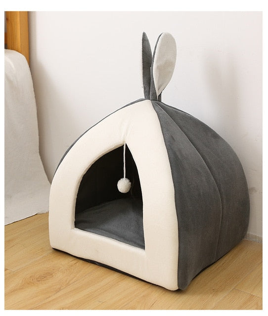 Self Warming Removable Cat Bed-Cat bed-petsoftcare-Grey 1-L40xW40xH41cm-petsoftcare