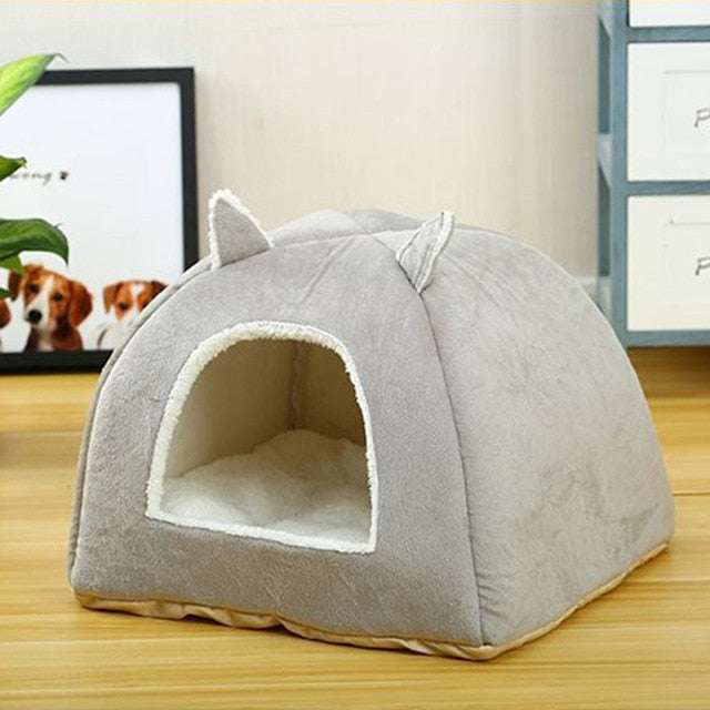 Self Warming Removable Cat Bed-Cat bed-petsoftcare-Grey-L40xW40xH41cm-petsoftcare