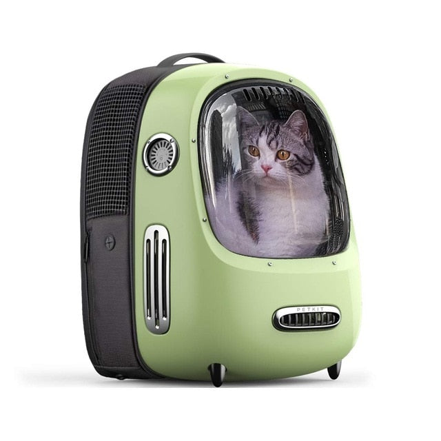 Portable Cat Carrier Backpack Travel Space Capsule for Cat and Small Dog-Cat bags-petsoftcare-Green-petsoftcare