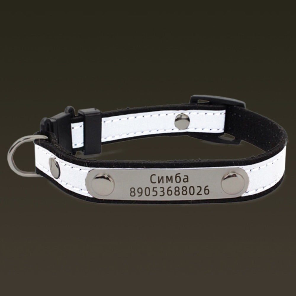 Personalized Cat Lettering Collar Reflective-Cat collars-petsoftcare-petsoftcare