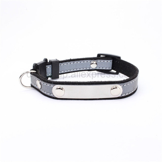 Personalized Cat Lettering Collar Reflective-Cat collars-petsoftcare-Black-free(name-phone NO.)-petsoftcare