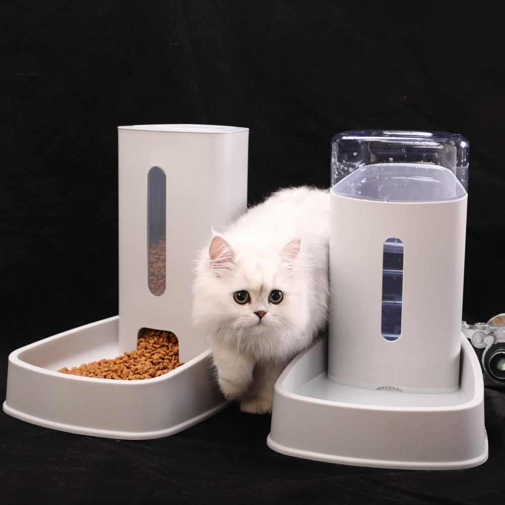 Cat Kitten Drinking Fountain Food Dish Pet Bowl-Cat Feeder & Waterers-petsoftcare-petsoftcare