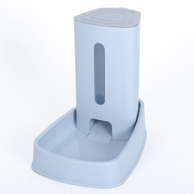 Cat Kitten Drinking Fountain Food Dish Pet Bowl-Cat Feeder & Waterers-petsoftcare-Food Blue-32.5x20x31cm-petsoftcare