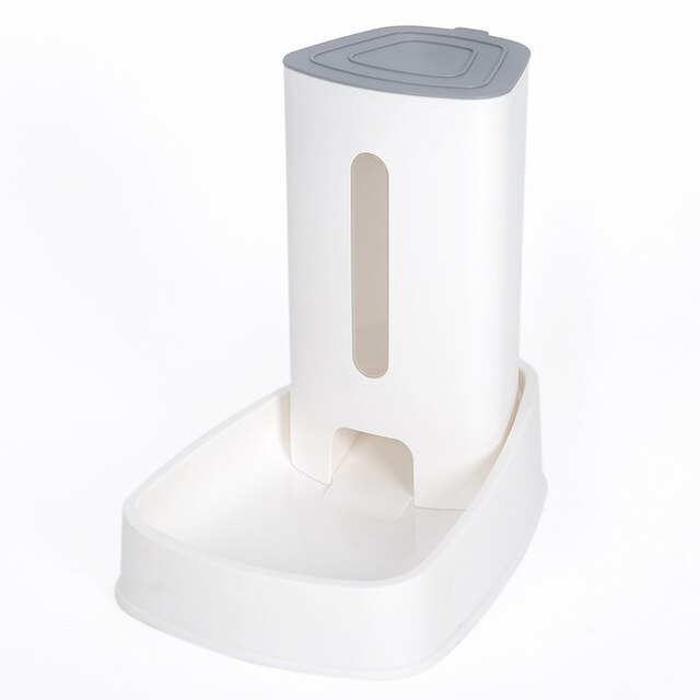 Cat Kitten Drinking Fountain Food Dish Pet Bowl-Cat Feeder & Waterers-petsoftcare-Food White-32.5x20x31cm-petsoftcare