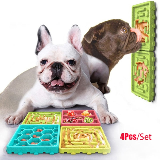 Dog Feeding Lick Mat-Dog feeder-petsoftcare-Green-petsoftcare