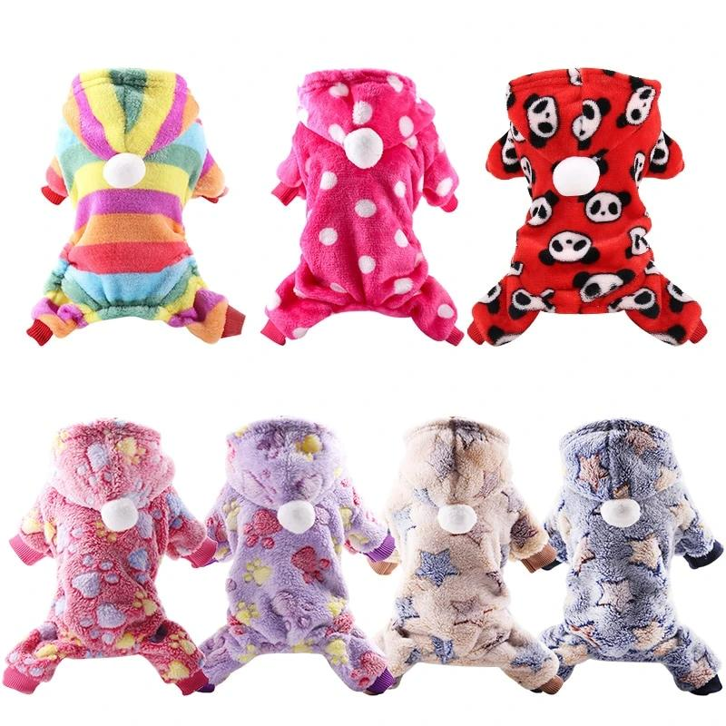 Dog Clothes Pajamas Fleece Jumpsuit Winter-Dog apparel-petsoftcare-petsoftcare