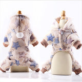 Dog Clothes Pajamas Fleece Jumpsuit Winter-Dog apparel-petsoftcare-Light brown-XS-petsoftcare