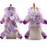 Dog Clothes Pajamas Fleece Jumpsuit Winter-Dog apparel-petsoftcare-Purple-XS-petsoftcare
