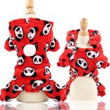Dog Clothes Pajamas Fleece Jumpsuit Winter-Dog apparel-petsoftcare-Red-XS-petsoftcare