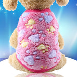 Dog Clothes Pajamas Fleece Jumpsuit Winter-Dog apparel-petsoftcare-vest pink-L-petsoftcare
