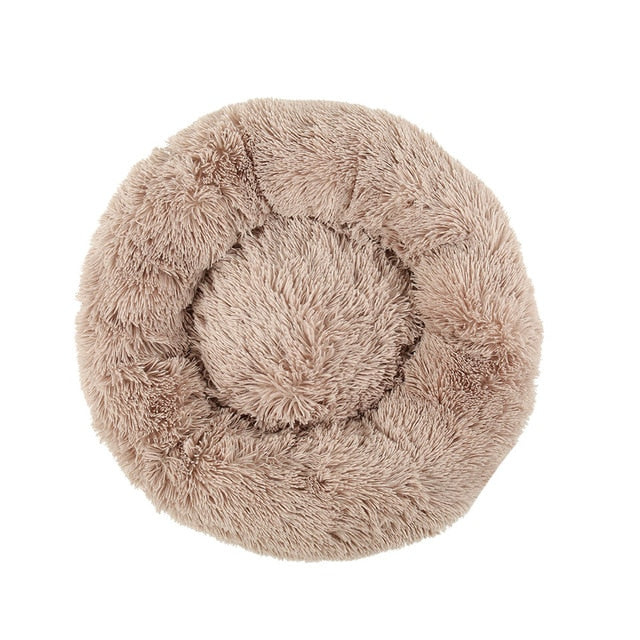 Warm Round Sleeping Beds For Pet Dogs Cat-Cat beds-petsoftcare-Light Coffee-80cm-petsoftcare