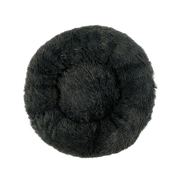 Warm Round Sleeping Beds For Pet Dogs Cat-Cat beds-petsoftcare-Dark Gray-80cm-petsoftcare