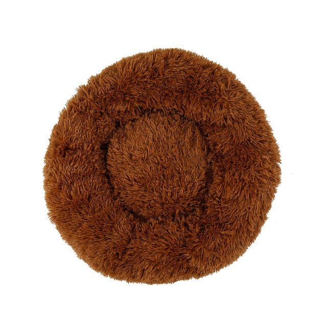 Warm Round Sleeping Beds For Pet Dogs Cat-Cat beds-petsoftcare-Dark Coffee-80cm-petsoftcare