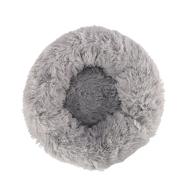 Warm Round Sleeping Beds For Pet Dogs Cat-Cat beds-petsoftcare-Light Grey-70cm-petsoftcare