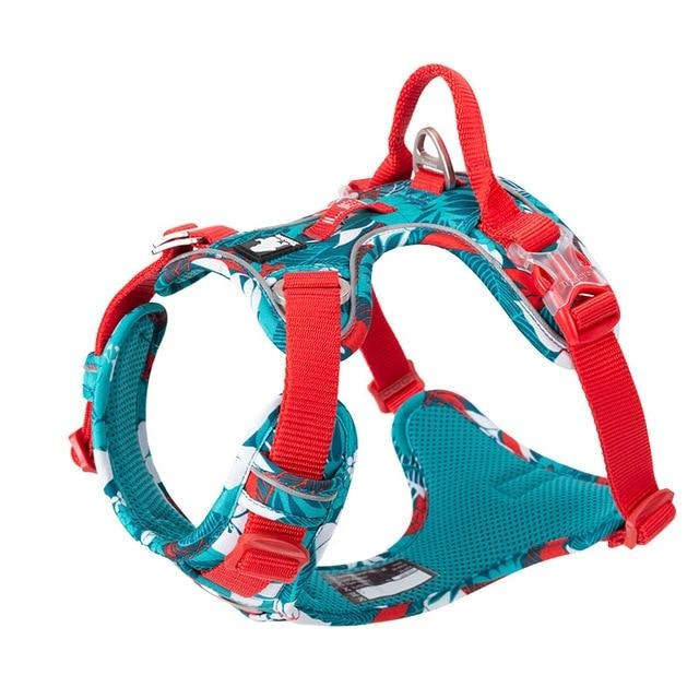 No Pull Dog Harness Vest Nylon Reflective-Collars, Harnesses & Leashes-petsoftcare-Blue dog harness-XL 81-107cm chest-petsoftcare