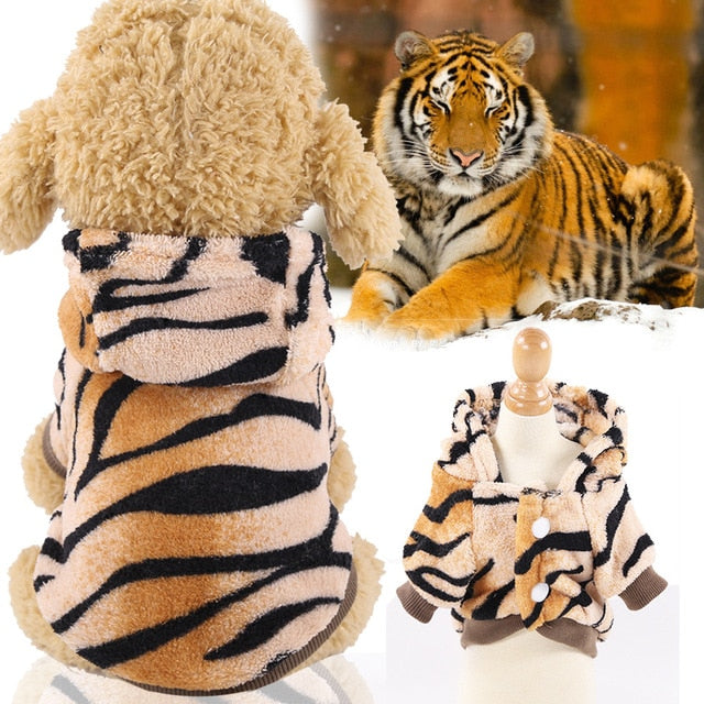 Winter Warm Thicken Funny Pet Dog Clothes-Dog apparel-petsoftcare-Tiger-XS-petsoftcare