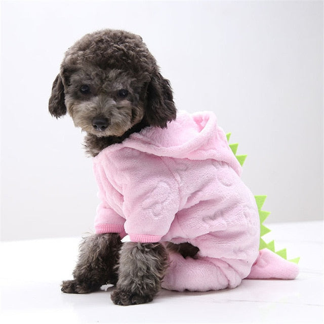 Winter Warm Thicken Funny Pet Dog Clothes-Dog apparel-petsoftcare-PinkDinosaur-S-petsoftcare