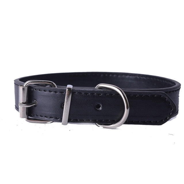 Fashion 8Colors Pu Leather Pet Dog Collar-Collars, Harnesses & Leashes-petsoftcare-Black-XS-petsoftcare
