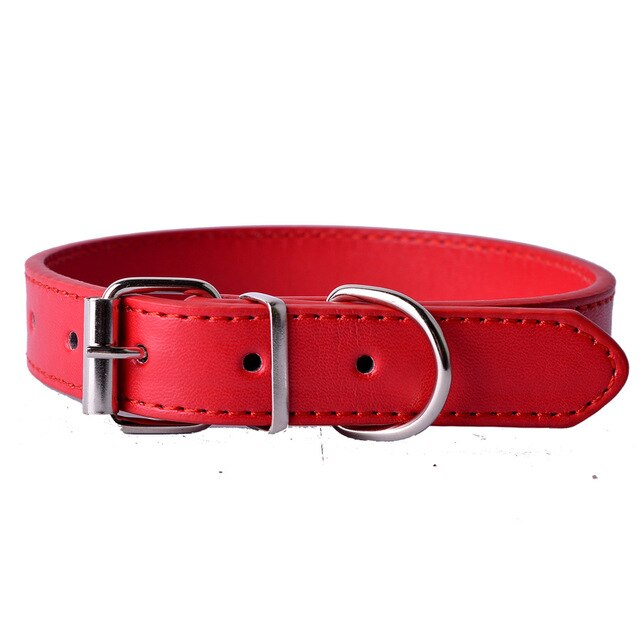 Fashion 8Colors Pu Leather Pet Dog Collar-Collars, Harnesses & Leashes-petsoftcare-Red-XS-petsoftcare