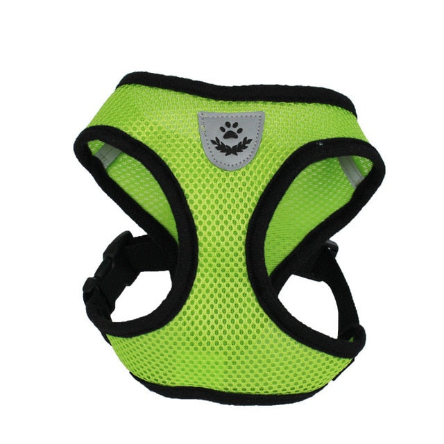 Cat Dog Adjustable Harness Vest Walking Lead Leash-Collars, Harnesses & Leashes-petsoftcare-Green-S-petsoftcare