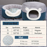 Winter Warm Sleeping Mat Supplies For Cat-Cat beds-petsoftcare-Blue Bed and Mat-S 40x40x31cm-petsoftcare