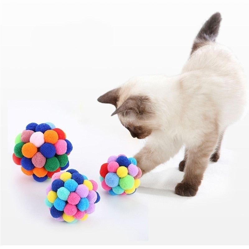 Funny Cat Toy Colorful Handmade Ball Pet Supplies-Cat toys-petsoftcare-petsoftcare
