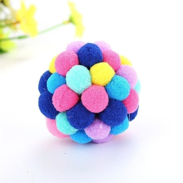 Funny Cat Toy Colorful Handmade Ball Pet Supplies-Cat toys-petsoftcare-Multicolor-S-petsoftcare