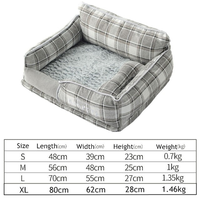 Cat&Dog Warm Sleeping Cotton-Dog beds-petsoftcare-Plaid-S-petsoftcare