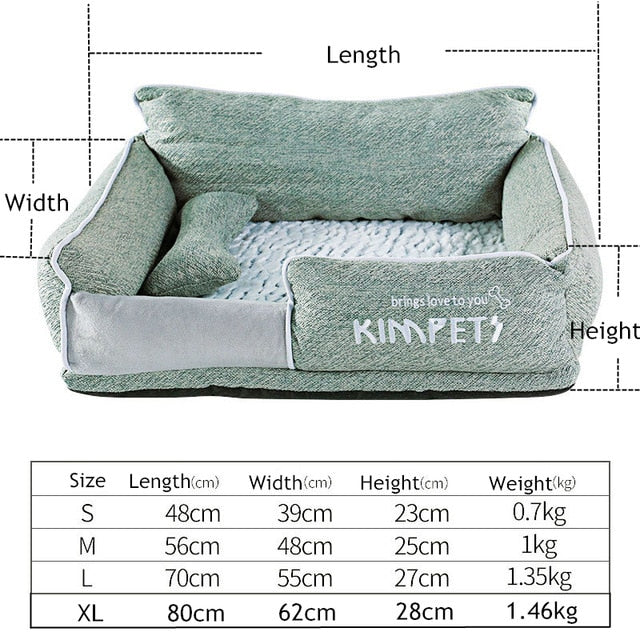 Cat&Dog Warm Sleeping Cotton-Dog beds-petsoftcare-Green-M-petsoftcare