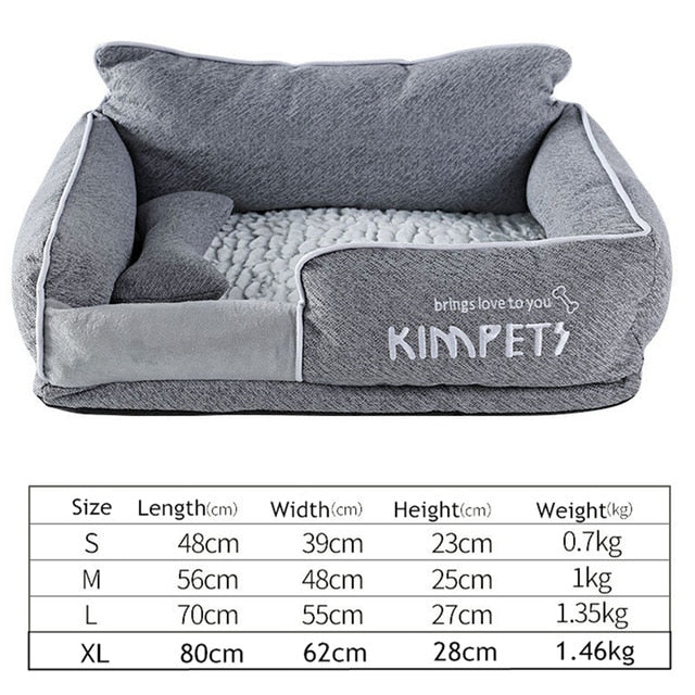 Cat&Dog Warm Sleeping Cotton-Dog beds-petsoftcare-Gray-L-petsoftcare