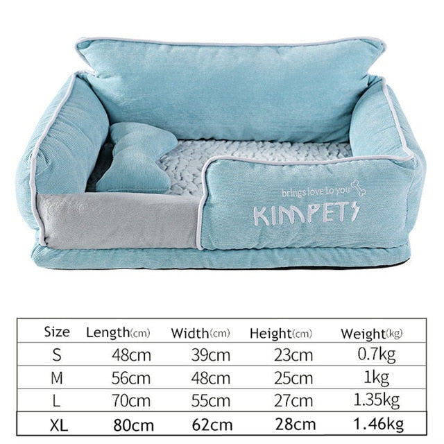 Cat&Dog Warm Sleeping Cotton-Dog beds-petsoftcare-LightBlue-M-petsoftcare