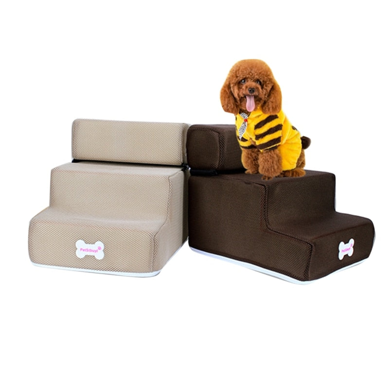 3 Steps Stairs Anti-slip Removable Pet-Dog beds-petsoftcare-petsoftcare