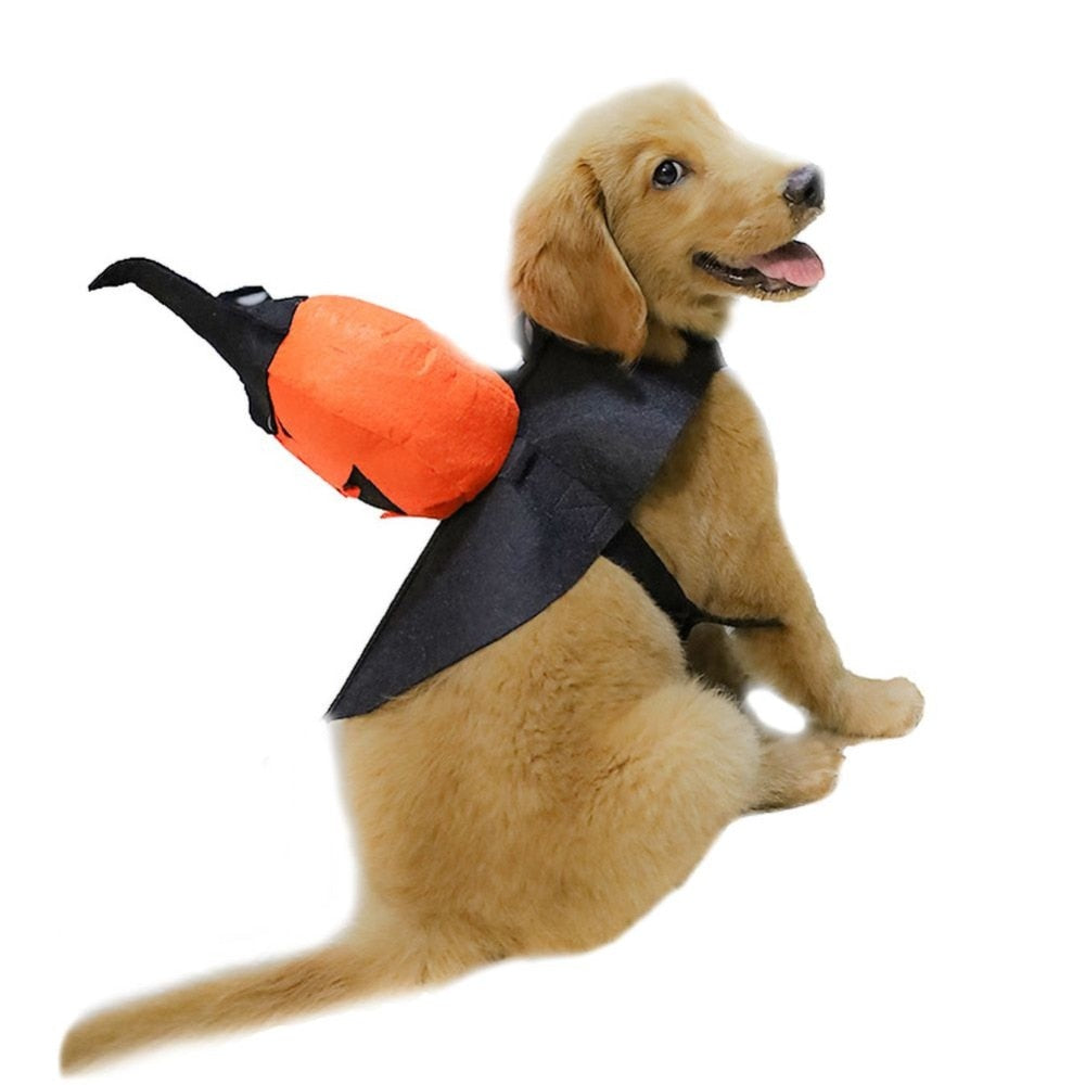 Funny Halloween Pet Clothes Christmas Pumpkin Cosplay Costume Suit-Halloween shop-petsoftcare-petsoftcare