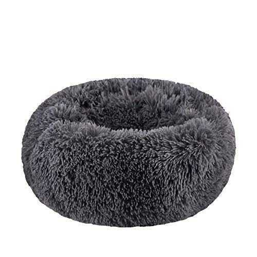 Comfortable Donut Cuddler Round Dog Bed-Dog beds-petsoftcare-Dark Gray-S Medium 50cm-petsoftcare