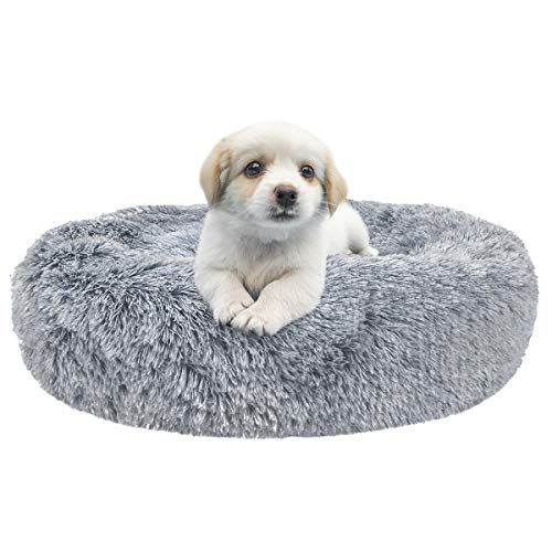 Comfortable Donut Cuddler Round Dog Bed-Dog beds-petsoftcare-Gradient Dark Grey-XXXL Goliath 100cm-petsoftcare