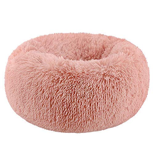 Comfortable Donut Cuddler Round Dog Bed-Dog beds-petsoftcare-Fairy Powder-L Jumbo 70cm-petsoftcare