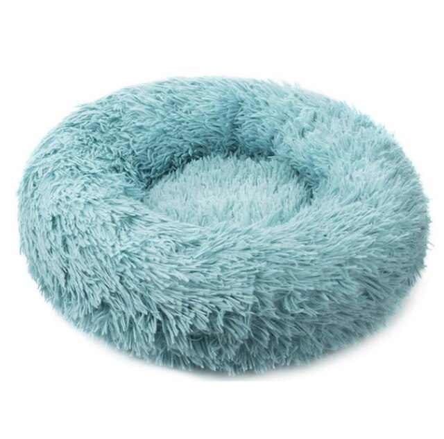 Comfortable Donut Cuddler Round Dog Bed-Dog beds-petsoftcare-Mint Green-L Jumbo 70cm-petsoftcare