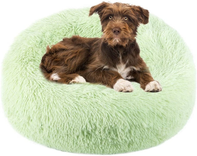 Comfortable Donut Cuddler Round Dog Bed-Dog beds-petsoftcare-Green-XXL Large 90cm-petsoftcare