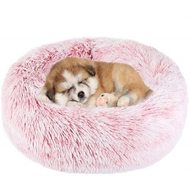 Comfortable Donut Cuddler Round Dog Bed-Dog beds-petsoftcare-petsoftcare