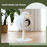 Lamb shape Sisal Rope Removable Cat Tree-Cat Trees & Condons-petsoftcare-petsoftcare