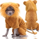 Dog Costume Halloween Costplay lion coral fleece Warm Clothes-Dog apparel-petsoftcare-lion-S-petsoftcare