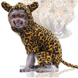 Dog Costume Halloween Costplay lion coral fleece Warm Clothes-Dog apparel-petsoftcare-cheetah-M-petsoftcare