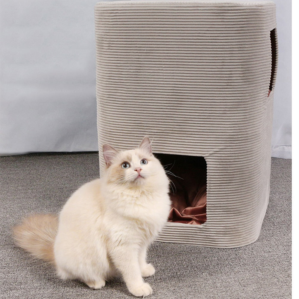 Cat Furniture Scratcher Post Cave Bed-Cat Trees & Condons-petsoftcare-petsoftcare