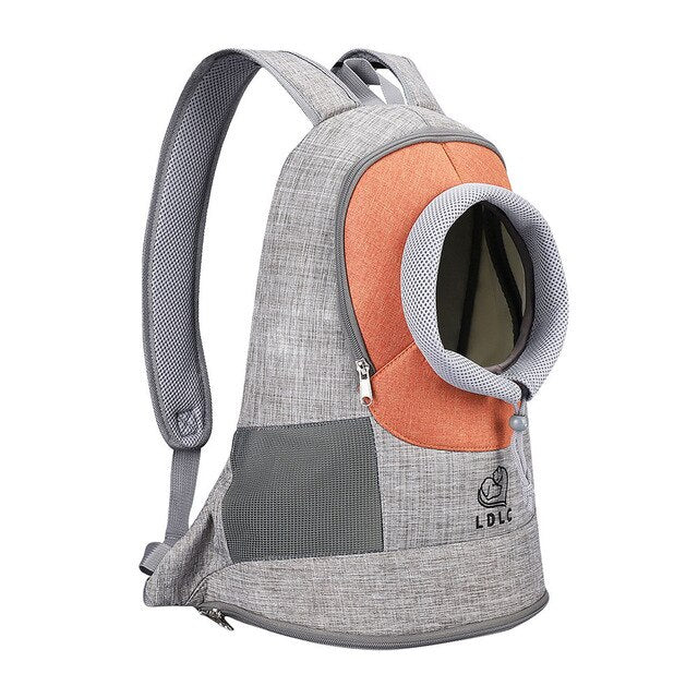 Portable Travel Backpack Outdoor Ventilation For Small Dogs and Cats-Cat bags-petsoftcare-Orange-L-petsoftcare